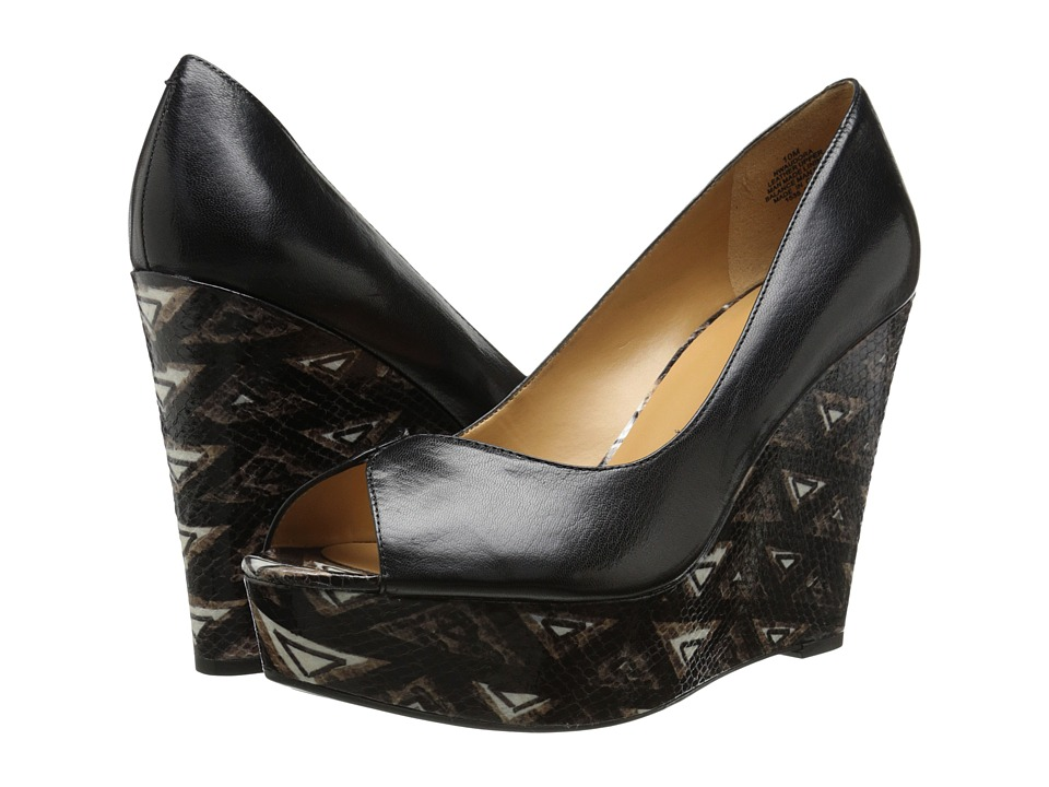 Nine West Audora (Black Leather) Women
