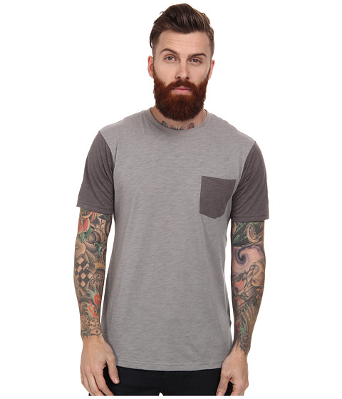 Reef - Stonesteps Short Sleeve Crew (Grey) Men
