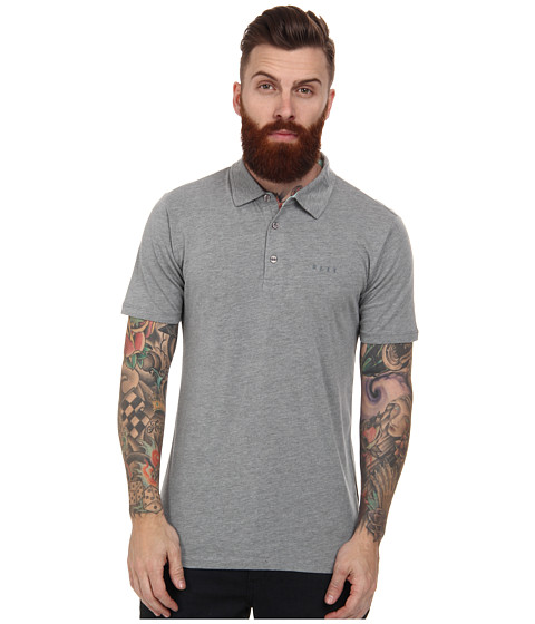 Reef - Bayover S/S Polo (Heather/Grey) Men's Short Sleeve Knit