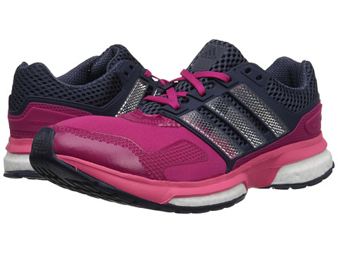 adidas Kids - Response Boost Techfit J (Big Kid) (Midnight Grey/Super Pink/Bold Pink) Girls Shoes