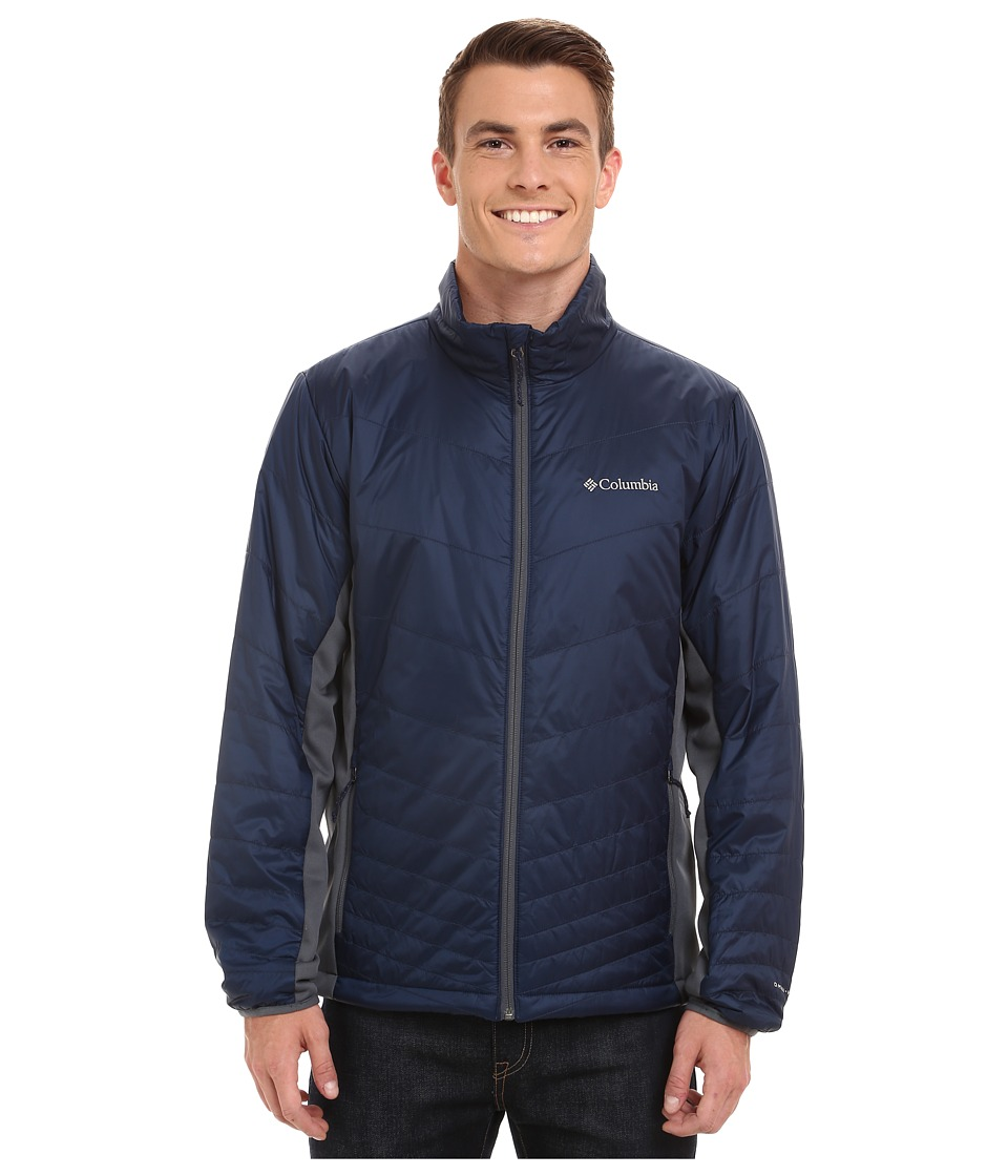 Columbia - Mighty Light Hybrid Jacket (Collegiate Navy/Graphite) Men's Coat