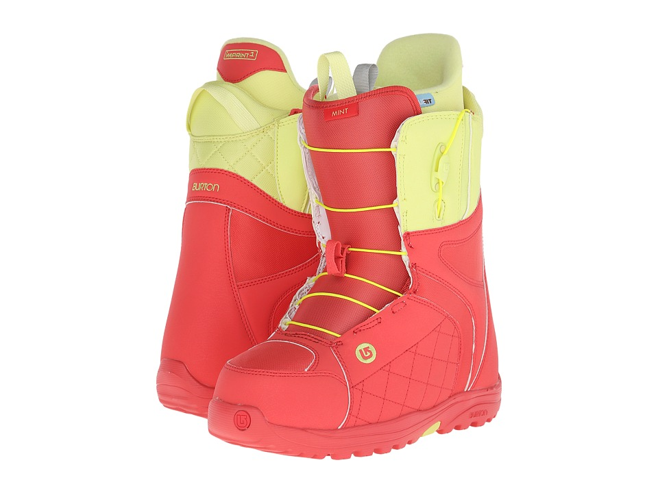 Burton - Mint (Coral/Yellow) Women's Snow Shoes