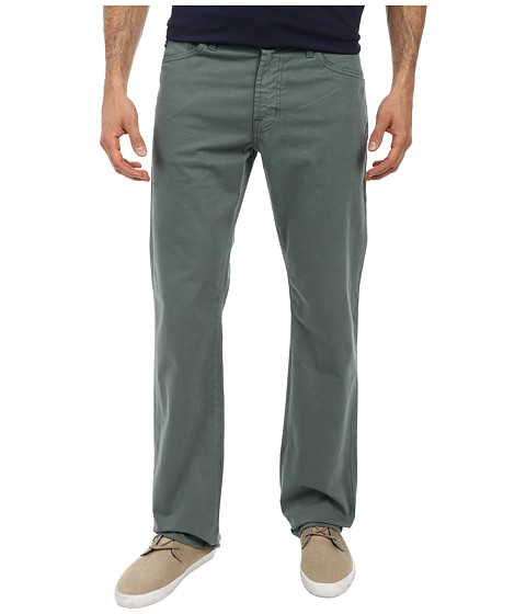 AG Adriano Goldschmied - Prot g Straight Leg Sueded Stretch Twill in Sage Cliff (Sage Cliff) Men's Casual Pants