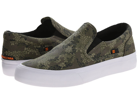 DC - Trase Slip-On X DPM (Grey Camo) Skate Shoes