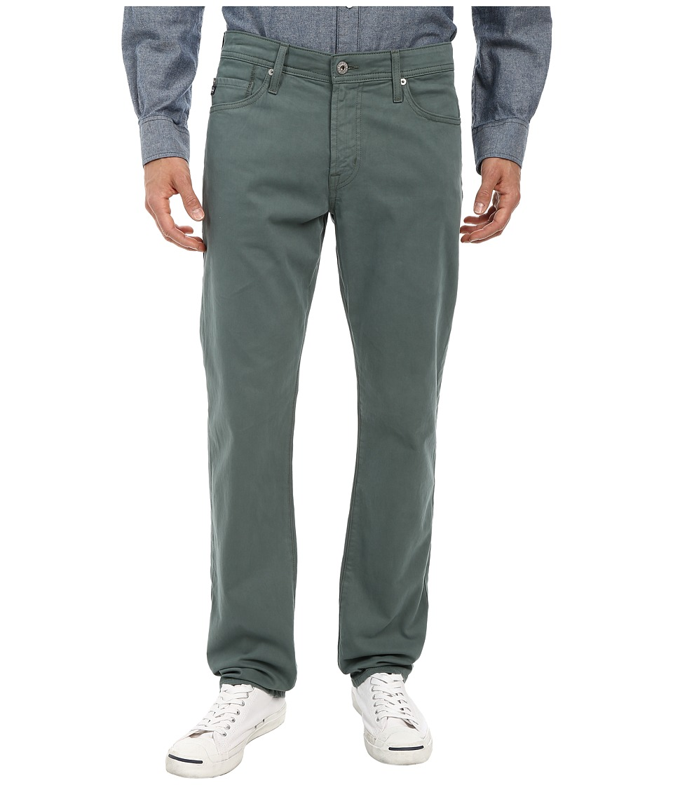 AG Adriano Goldschmied - Graduate Tailored Leg Sueded Stretch Twill in Sage Cliff (Sage Cliff) Men's Jeans