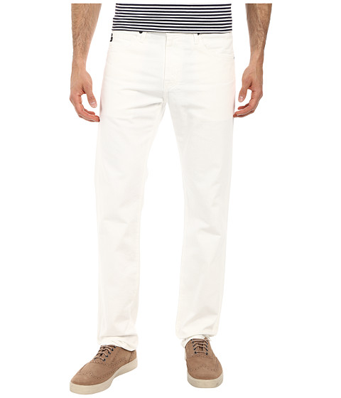 AG Adriano Goldschmied - Matchbox Slim Straight Leg White Denim in Keel (Keel) Men