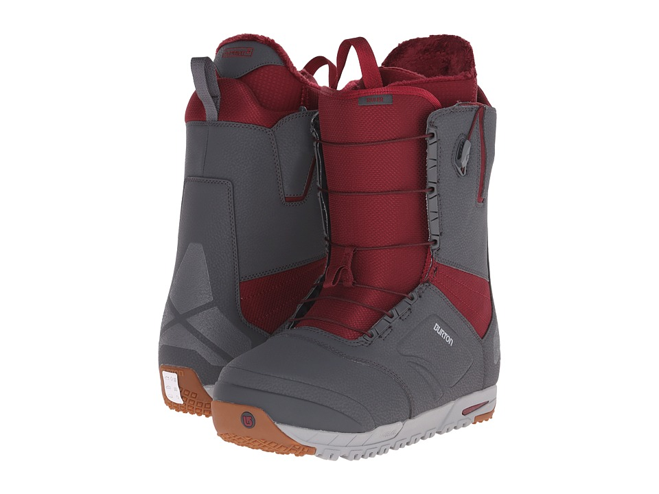 Burton - Ruler EST '16 (Gray/Burgundy) Men's Cold Weather Boots