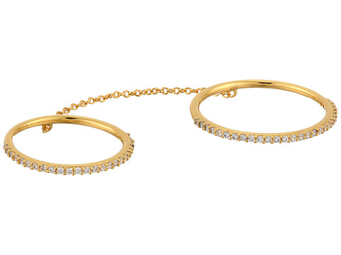 gorjana - Shimmer Bar Ring to Midi Connector (Gold) Bracelet