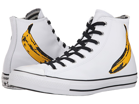 Converse - Chuck Taylor All Star Andy Warhol Hi (White/Black/Freesia) Shoes