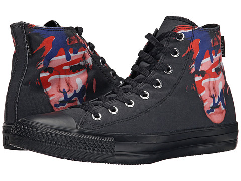 Converse - Chuck Taylor All Star Andy Warhol Hi (Black/Red/Blue) Shoes