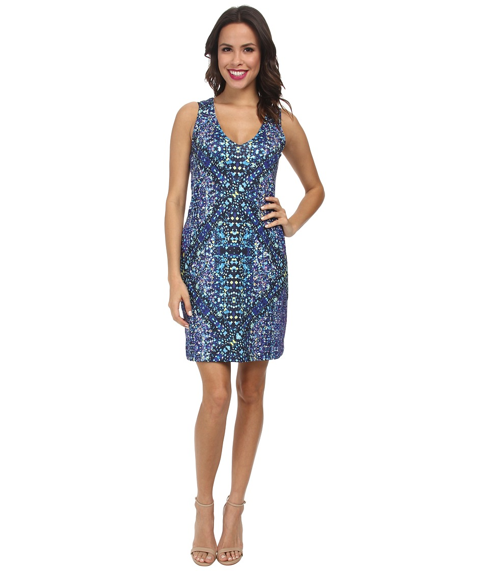 Nally & Millie - Printed Reversible V-Neck Dress (Multi) Women's Dress