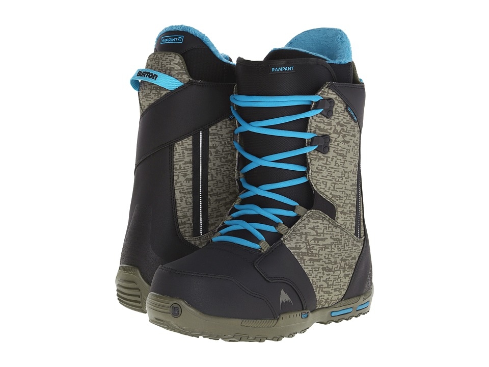 Burton - Rampant EST '16 (Black/Camo/Blue) Men's Cold Weather Boots