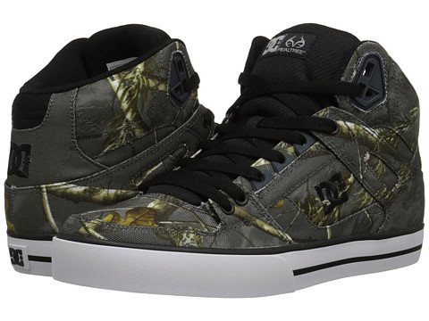 DC - Spartan High WC Realtree (Grey) Men's Skate Shoes