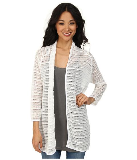 Nally & Millie - Long Sleeve Cardigan (White) Women's Sweater