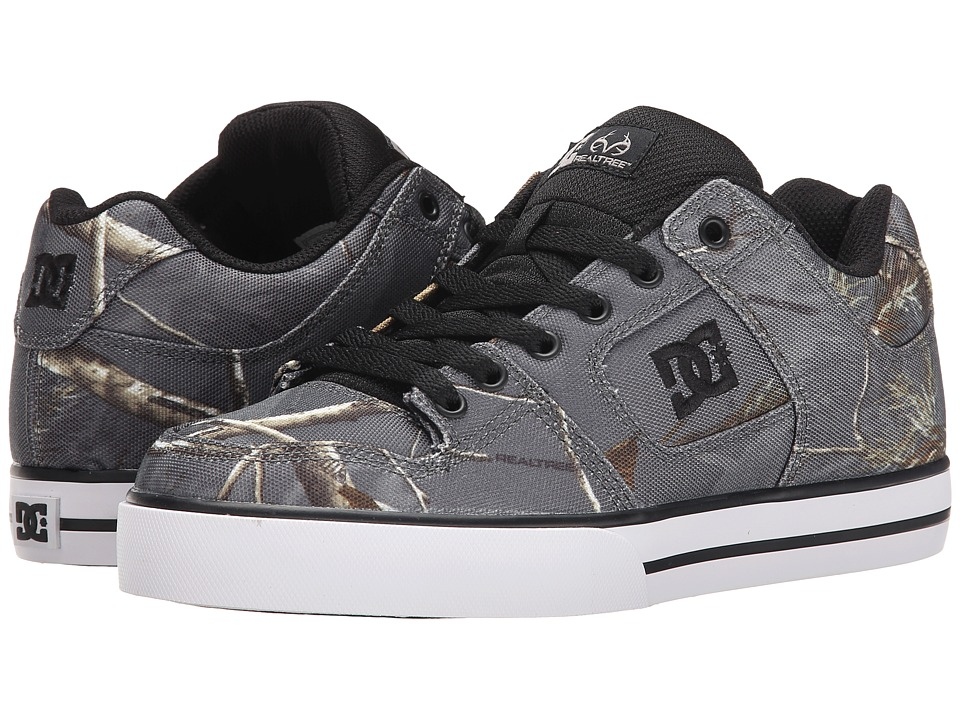 DC - Pure Realtree (Grey) Men's Skate Shoes