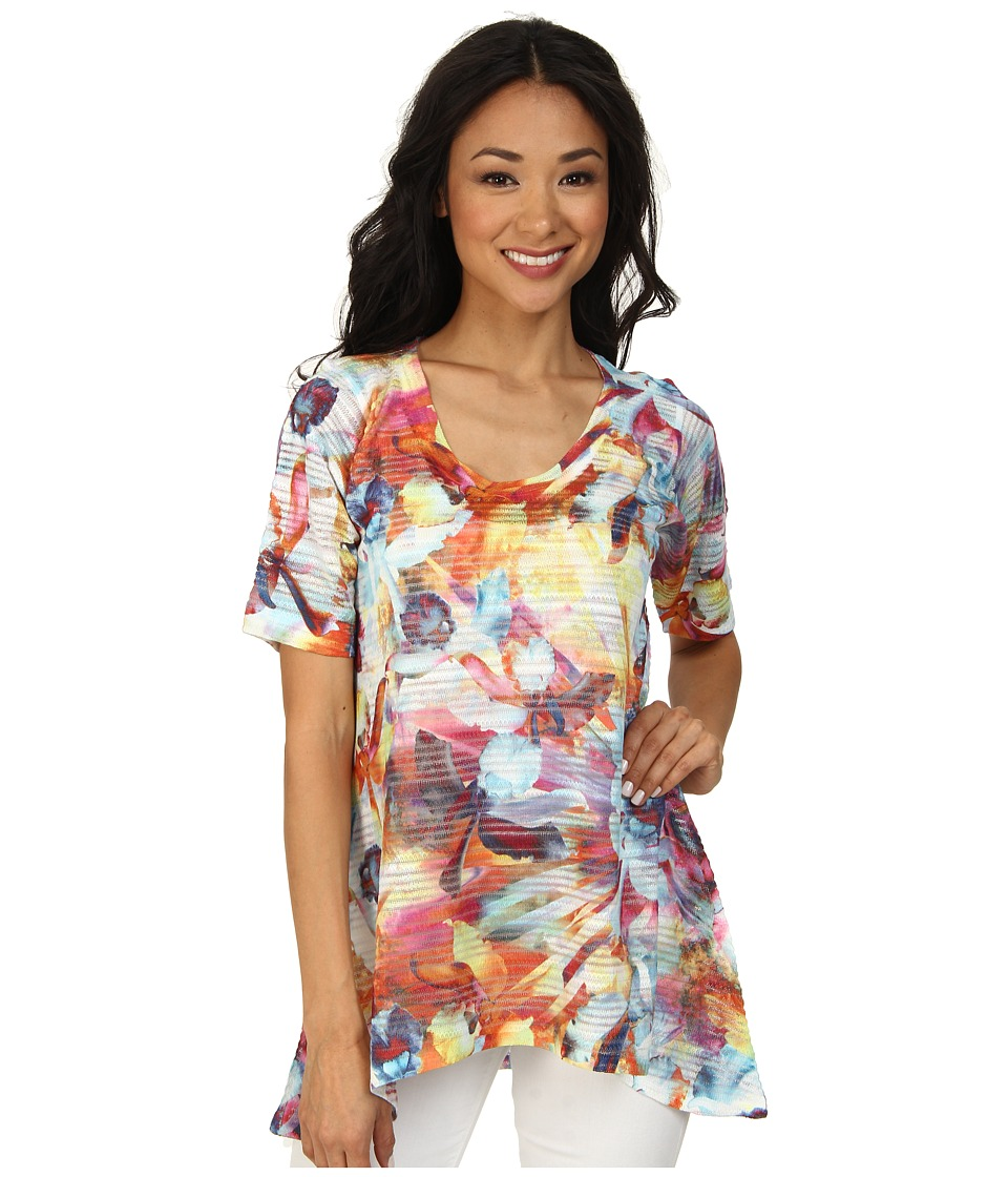 Nally & Millie - Floral High-Low Tunic (Multi) Women's Clothing