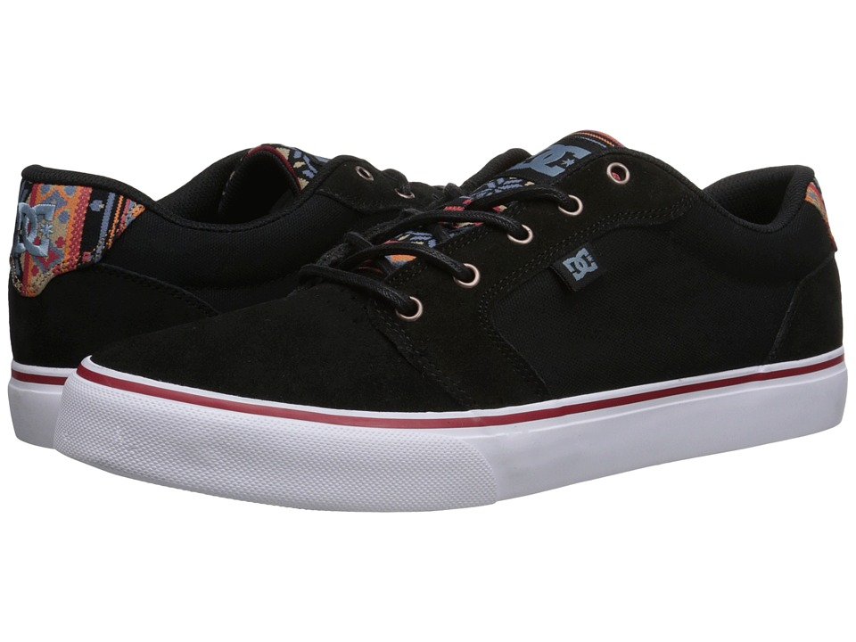 DC - Anvil SE (Black/White/Orange) Men's Skate Shoes