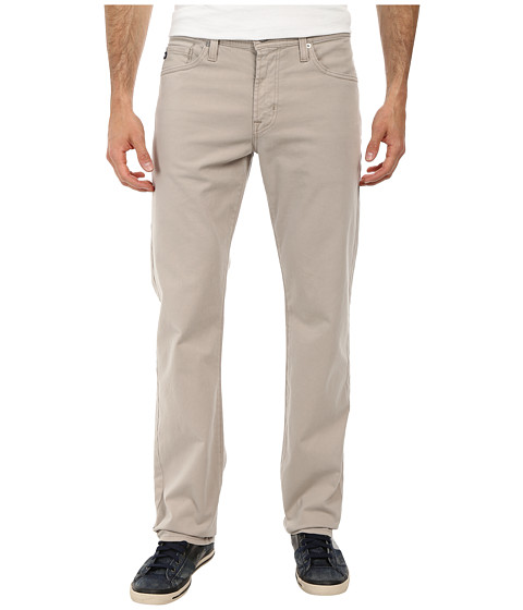AG Adriano Goldschmied - Prot g Straight Leg Sueded Stretch Twill in Light Dune (Light Dune) Men