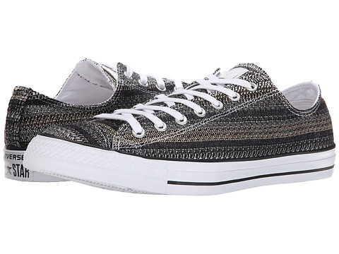 Converse - Chuck Taylor All Star Dobby Weave Ox (White/Green/Black) Lace up casual Shoes