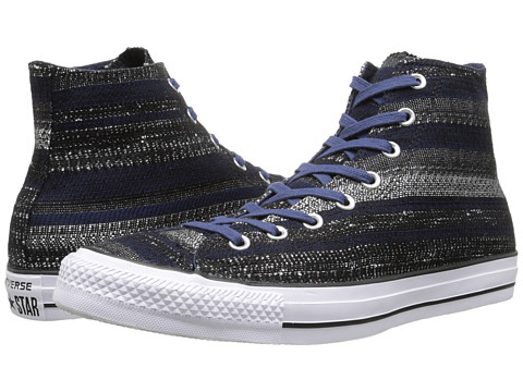 Converse - Chuck Taylor All Star Dobby Weave Hi (Navy/Black/White) Lace up casual Shoes