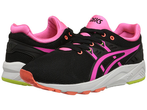 Onitsuka Tiger by Asics - Gel-Kayano Trainer EVO (Black/Pink) Women's Shoes