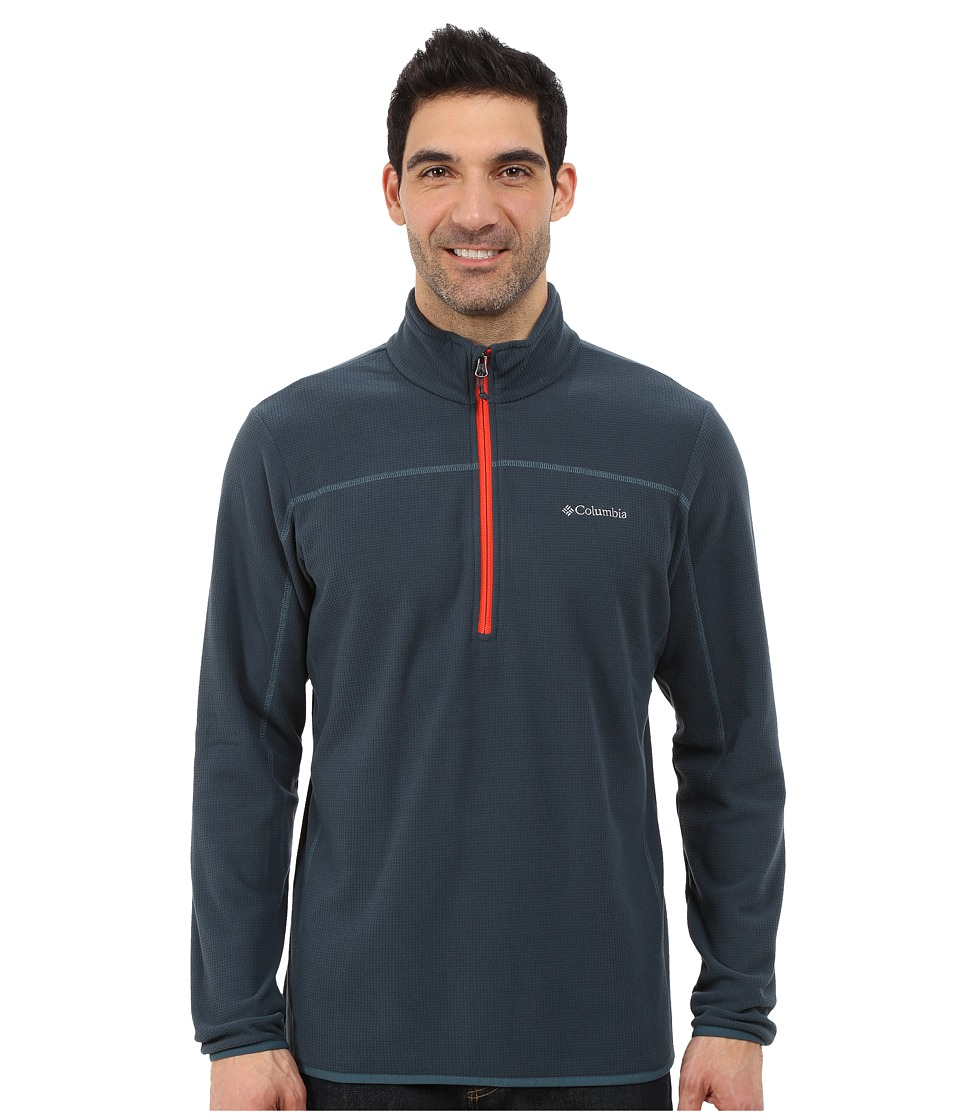 Columbia - Trails Edge M Half Zip Fleece (Night Shadow/Everblue/Spicy) Men's Sweatshirt