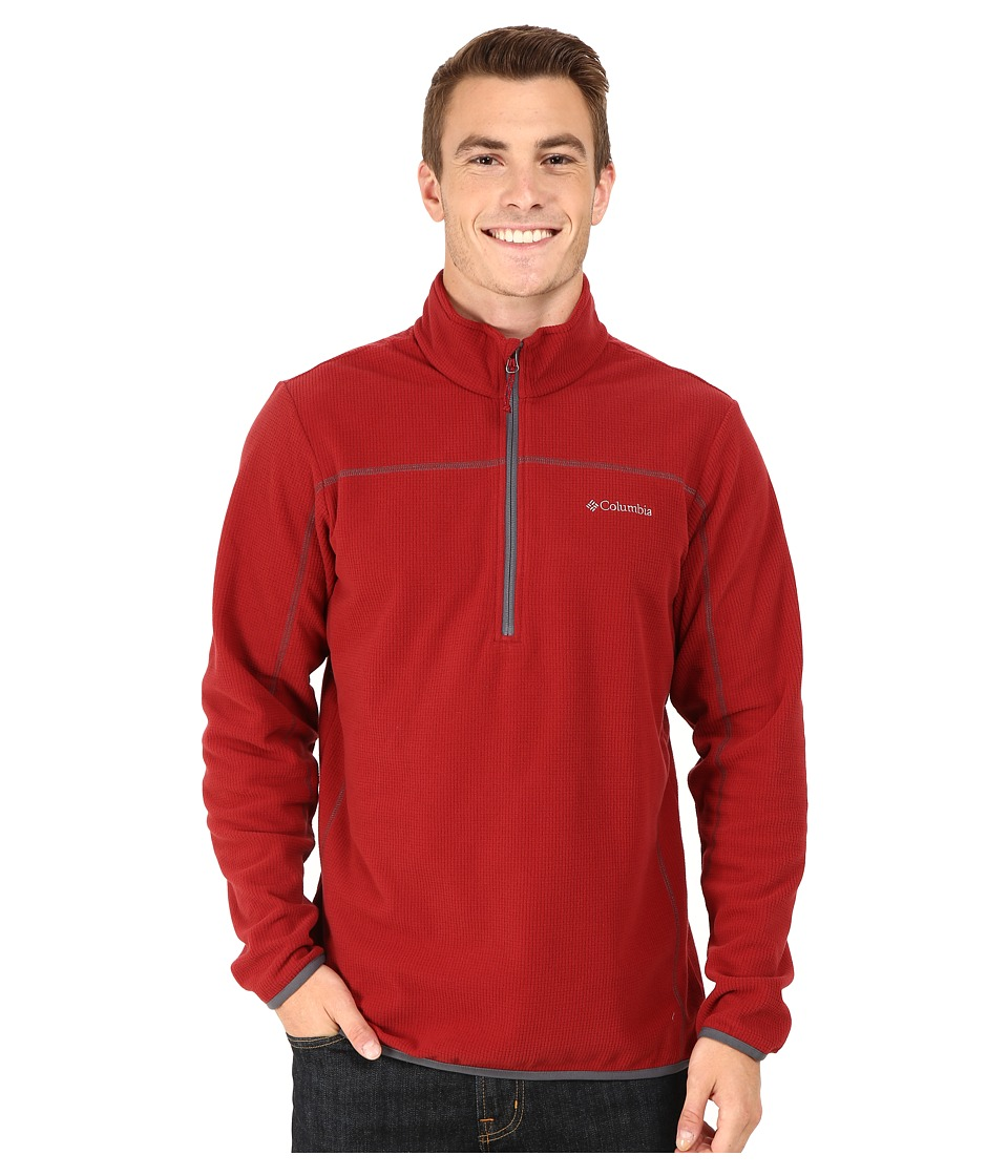 Columbia - Trails Edge M Half Zip Fleece (Red Element/Graphite) Men's Sweatshirt