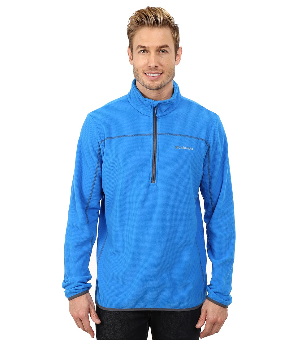 Columbia - Trails Edge M Half Zip Fleece (Hyper Blue/Graphite) Men's Sweatshirt