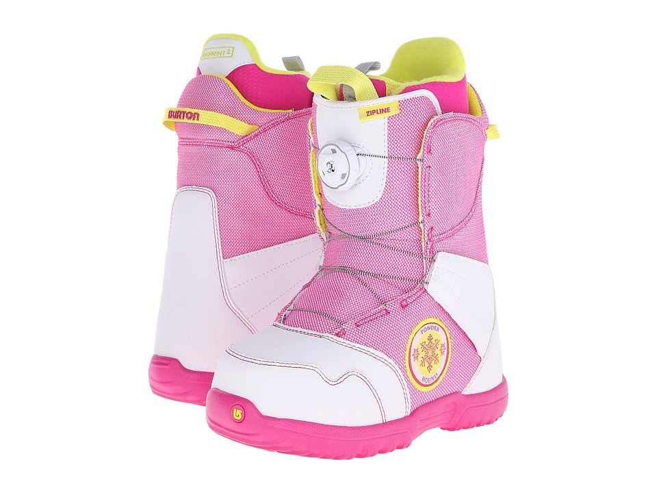 Burton - Zipline Boa '16 (Big Kid) (White/Pink) Cold Weather Boots