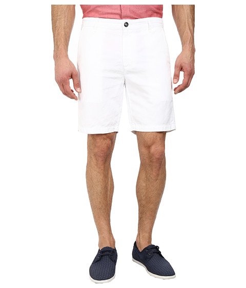 AG Adriano Goldschmied - Wanderer Cotton-Linen Blend Shorts in White (White) Men