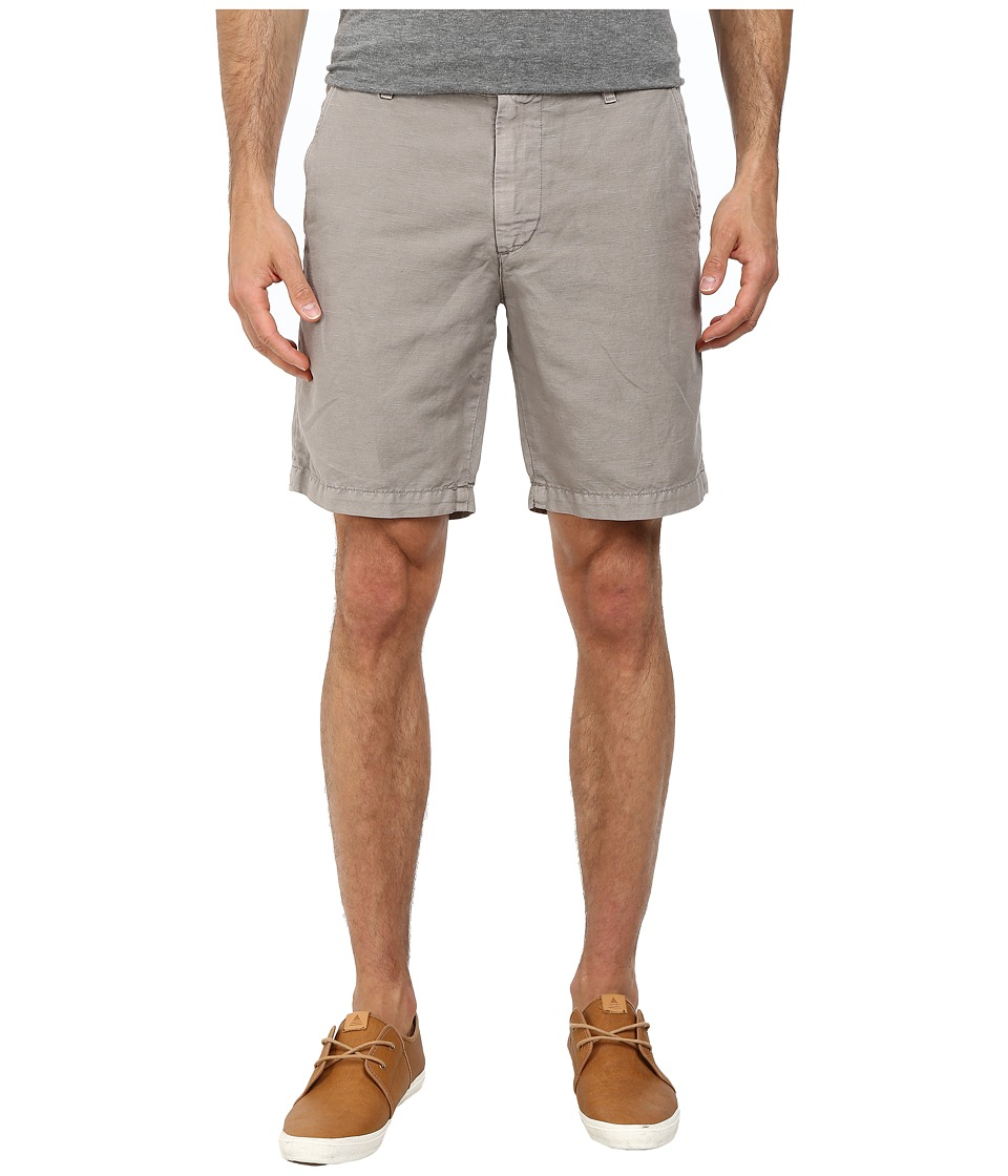 AG Adriano Goldschmied - Wanderer Cotton-Linen Blend Shorts in Sulfur Shale (Sulfur Shale) Men's Shorts