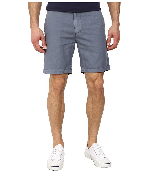 AG Adriano Goldschmied - Wanderer Cotton-Linen Blend Shorts in Sulfur Shadow Grey (Sulfur Shadow Grey) Men