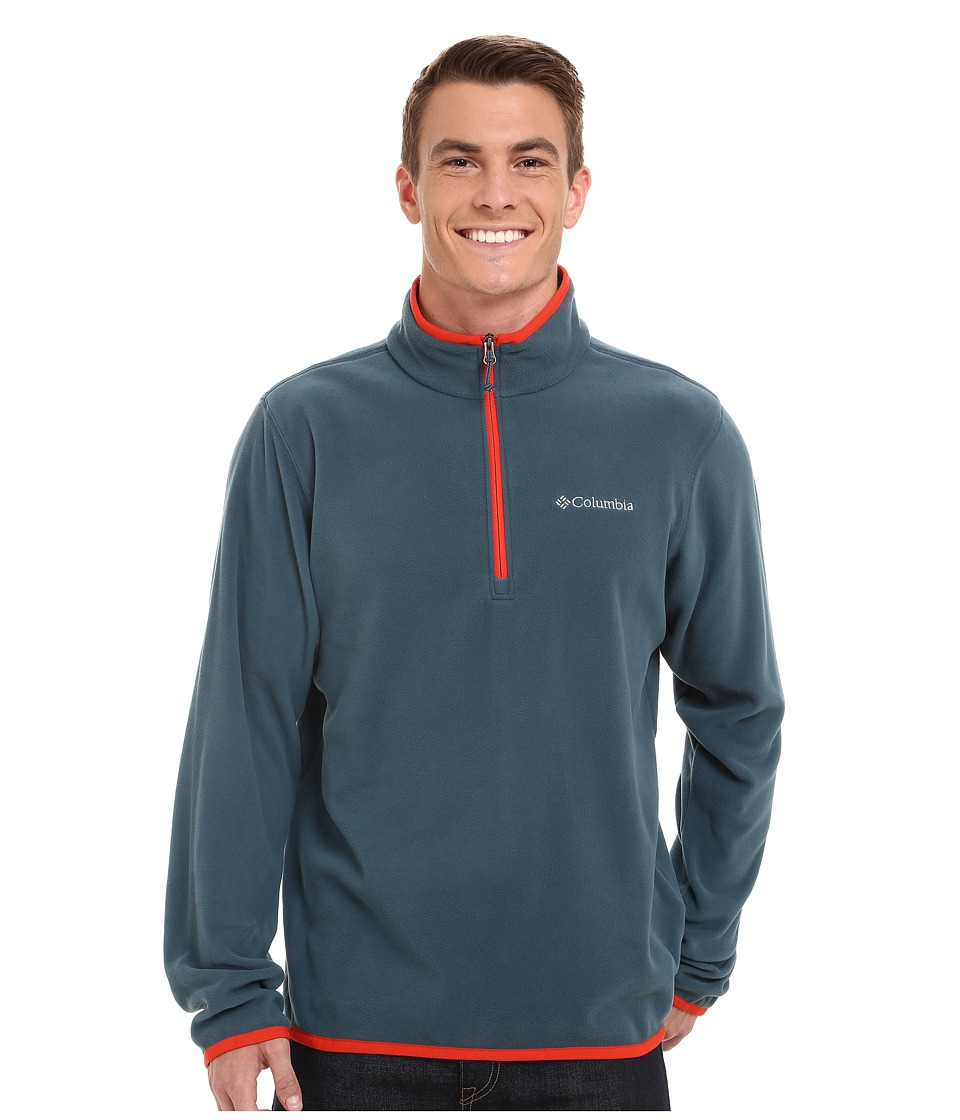 Columbia - Ridge Repeat Half Zip Fleece (Everblue/Spicy) Men's Sweatshirt