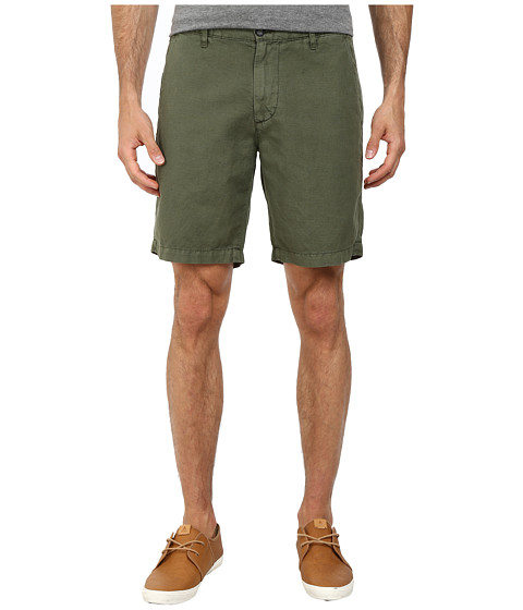 AG Adriano Goldschmied - Wanderer Cotton-Linen Blend Shorts in Sulfur Vine Canopy (Sulfur Vine Canopy) Men