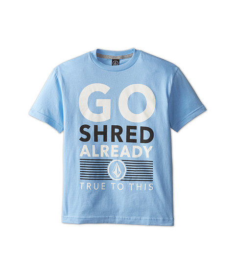 Volcom Kids - Shred Already Tee (Big Kids) (False Blue) Boy's T Shirt