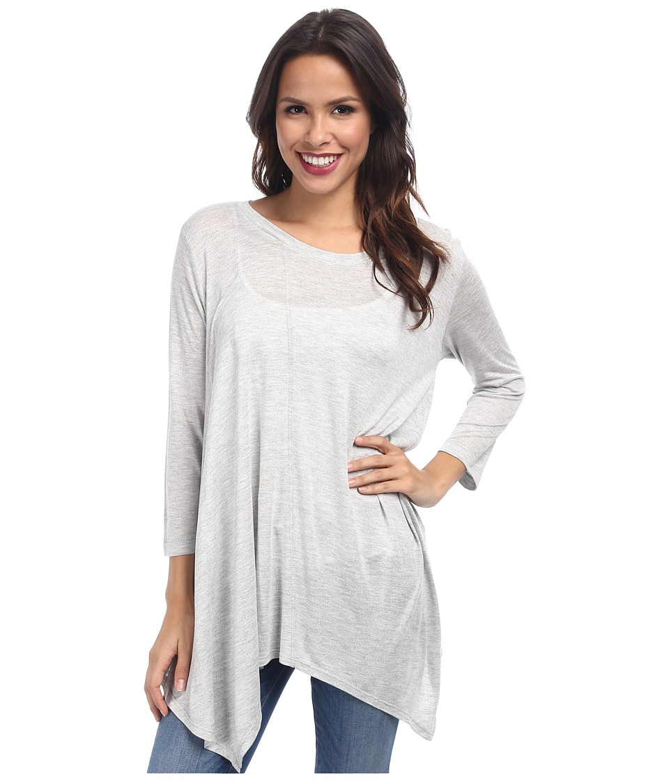 Nally & Millie - Asymmetric Tunic (Grey) Women's Long Sleeve Pullover