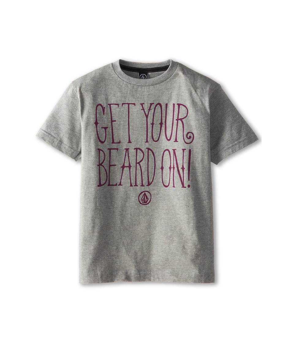 Volcom Kids - Weird Beard Short Sleeve Tee (Big Kids) (Heather Grey) Boy's T Shirt