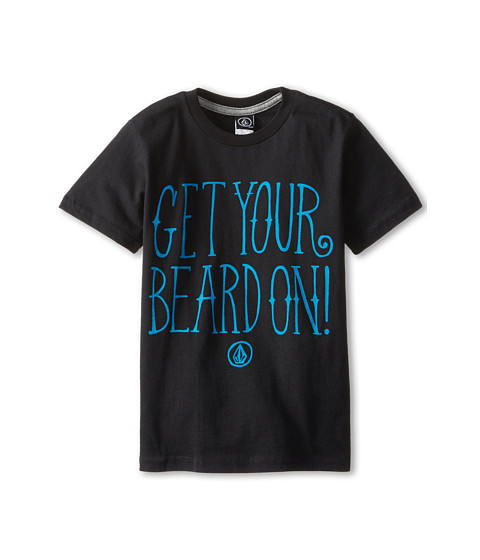 Volcom Kids - Weird Beard Short Sleeve Tee (Toddler/Little Kids) (Black) Boy's T Shirt