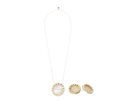 House of Harlow 1960 - Sunburst Necklace Gift Set (Rose Quartz) Necklace