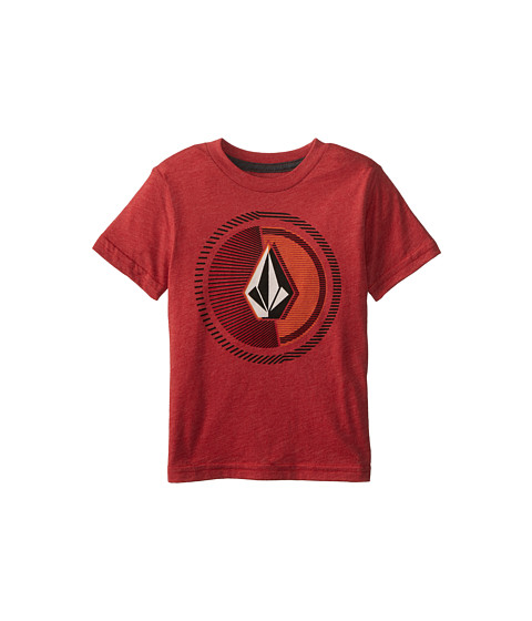 Volcom Kids - Overload Short Sleeve Tee (Toddler/Little Kids) (Drip Red Heather) Boy's T Shirt