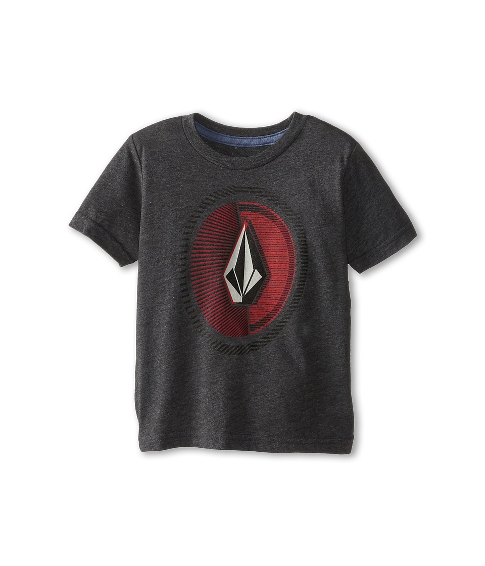 Volcom Kids - Overload Short Sleeve Tee (Toddler/Little Kids) (Heather Black) Boy's T Shirt