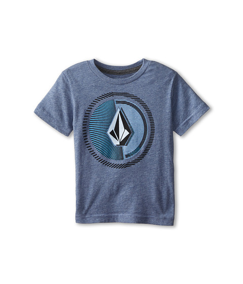Volcom Kids - Overload Short Sleeve Tee (Toddler/Little Kids) (Matured Blue Heather) Boy's T Shirt