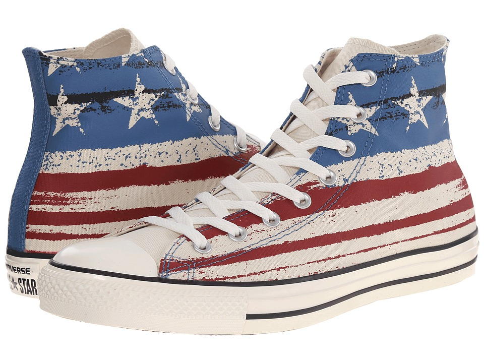 Converse - Chuck Taylor All Star Flag Print Hi (Chili Paste/Atlantic/Egret) Lace up casual Shoes