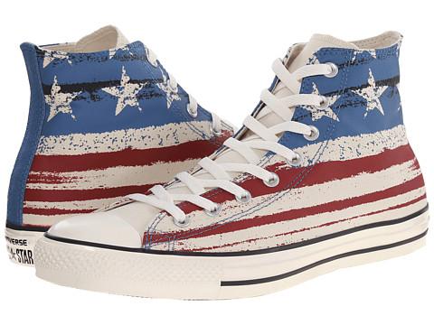 Converse - Chuck Taylor All Star Flag Print Hi (Chili Paste/Atlantic/Egret) Lace up casual Shoes