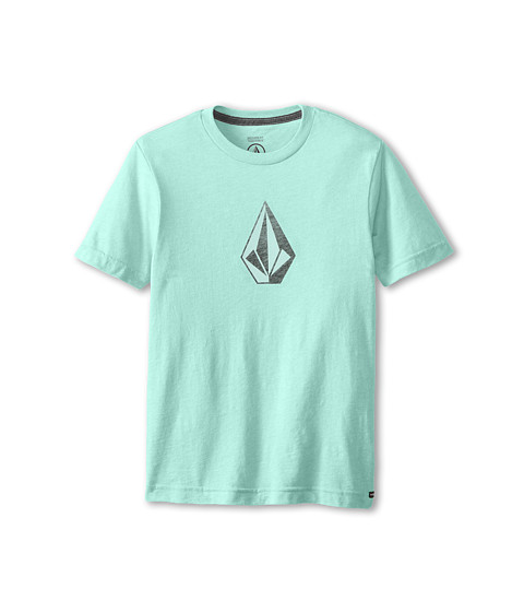Volcom Kids - Say When Short Sleeve Tee (Big Kids) (Arctic Blue Heather) Boy