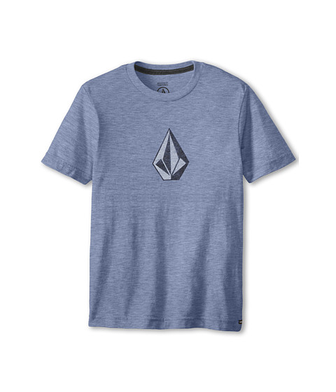 Volcom Kids - Say When Short Sleeve Tee (Big Kids) (Matured Blue Heather) Boy