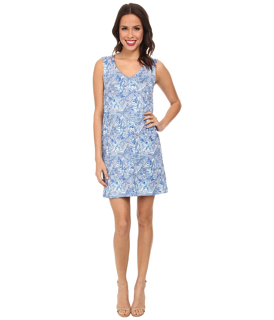 Nally & Millie - Blue Paisley Reversible Dress (Blue Multi) Women