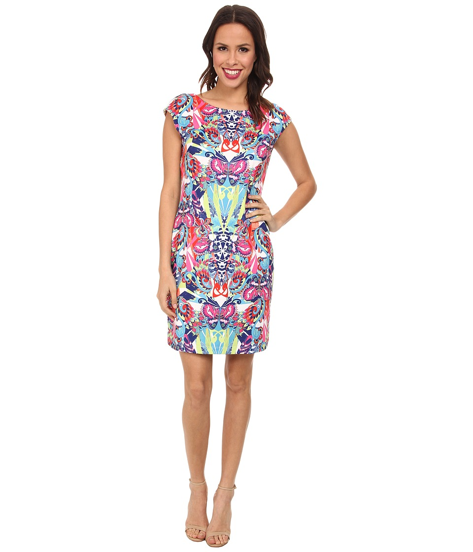 Nally & Millie - Cap Sleeve Reversible Dress (Multi) Women's Dress
