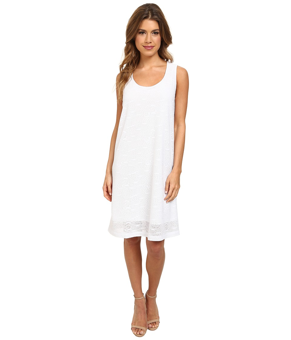 Nally & Millie - Jacquard Sleeveless Dress (White) Women's Dress