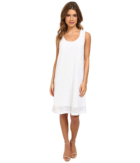 Nally & Millie - Jacquard Sleeveless Dress (White) Women